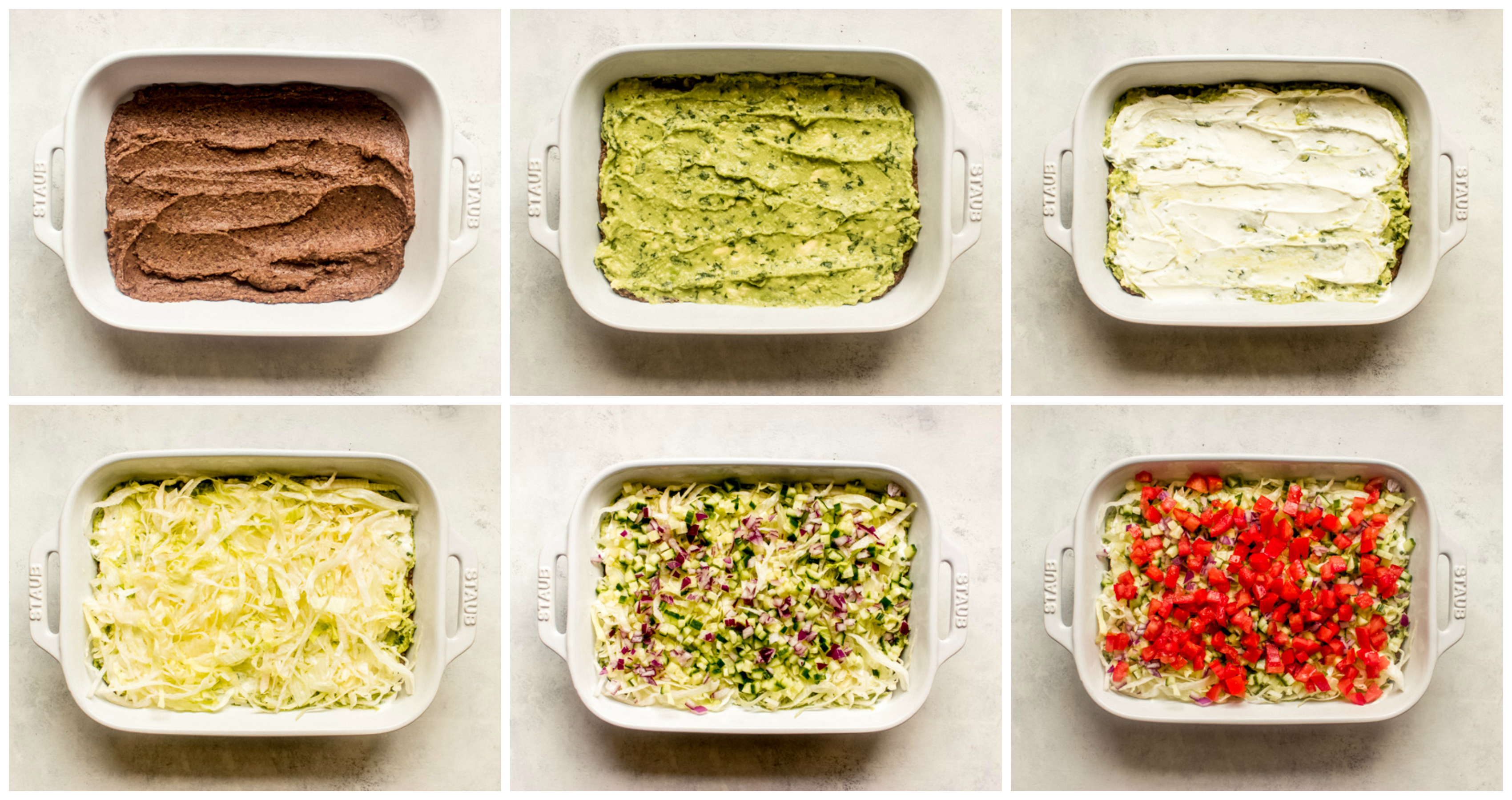 layers of 7-layer dip