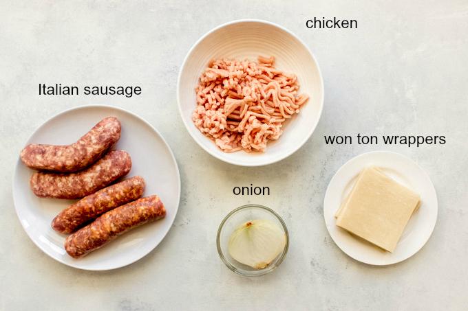 ingredients for potsticker recipe