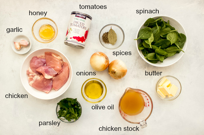 ingredients for creamy tomato chicken recipe