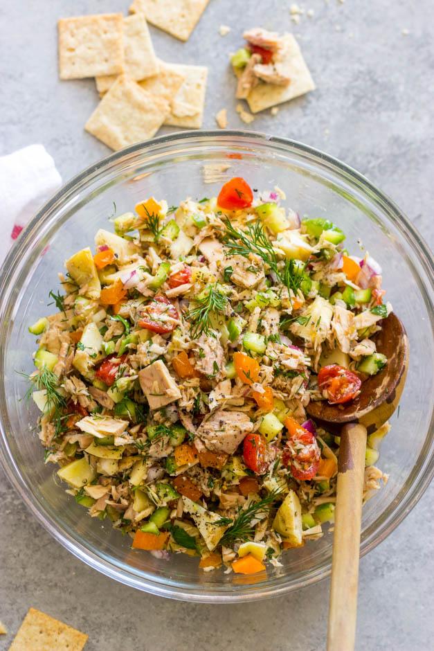mayo free tuna salad