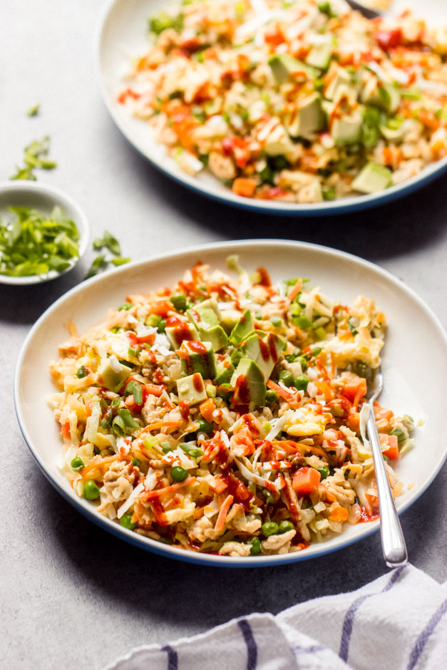 chicken and cabbage fried rice recipe