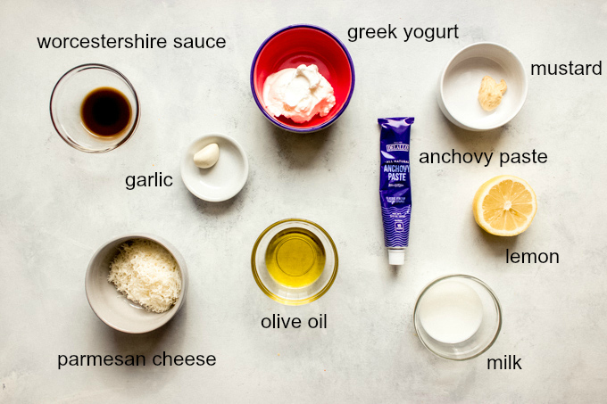 ingredients for caesar dressing