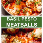 basil pesto meatballs