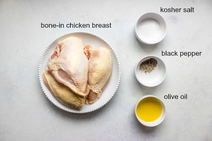 ingredients for oven roasted bone in chicken breast