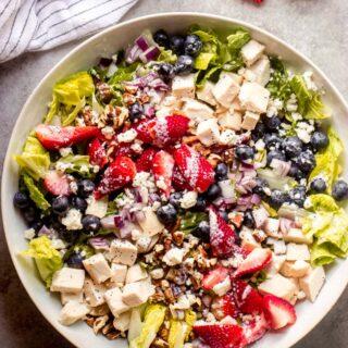 strawberry poppyseed chicken salad