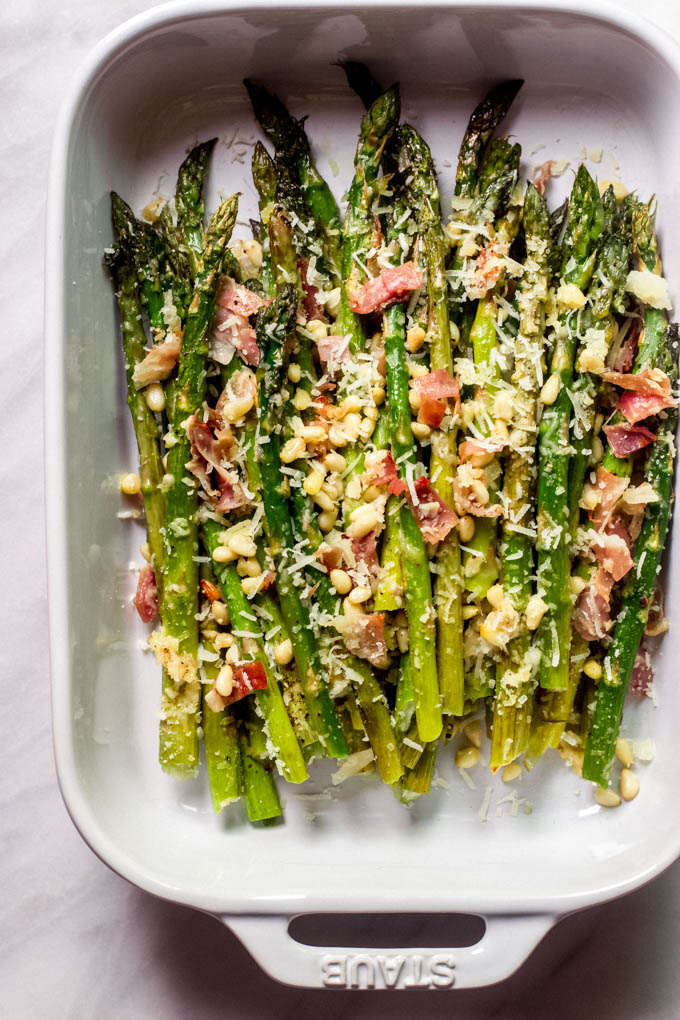 recipe for roasted asparagus with parmesan