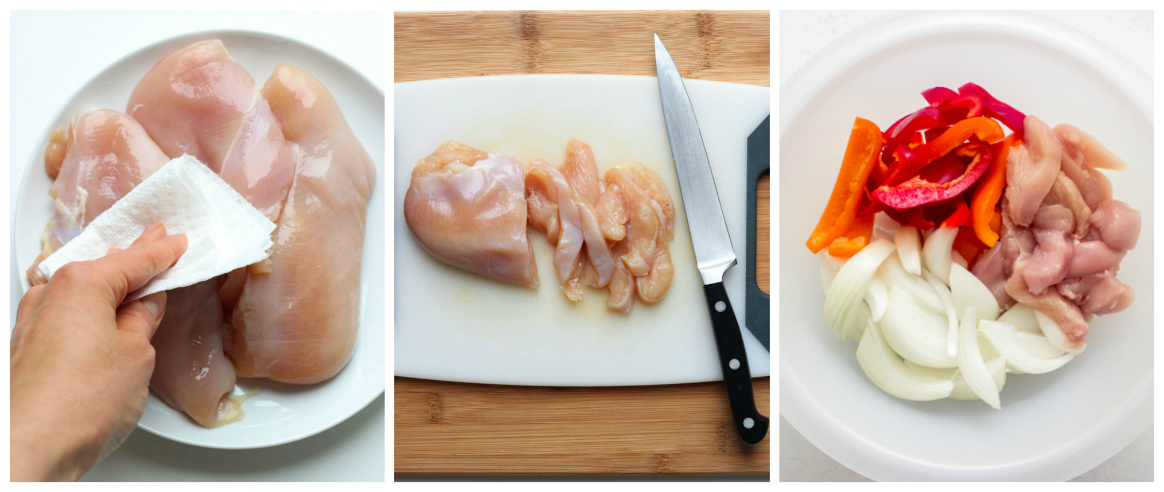 sliced chicken breast on a cutting board