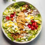 chicken cobb salad with goddess dressing