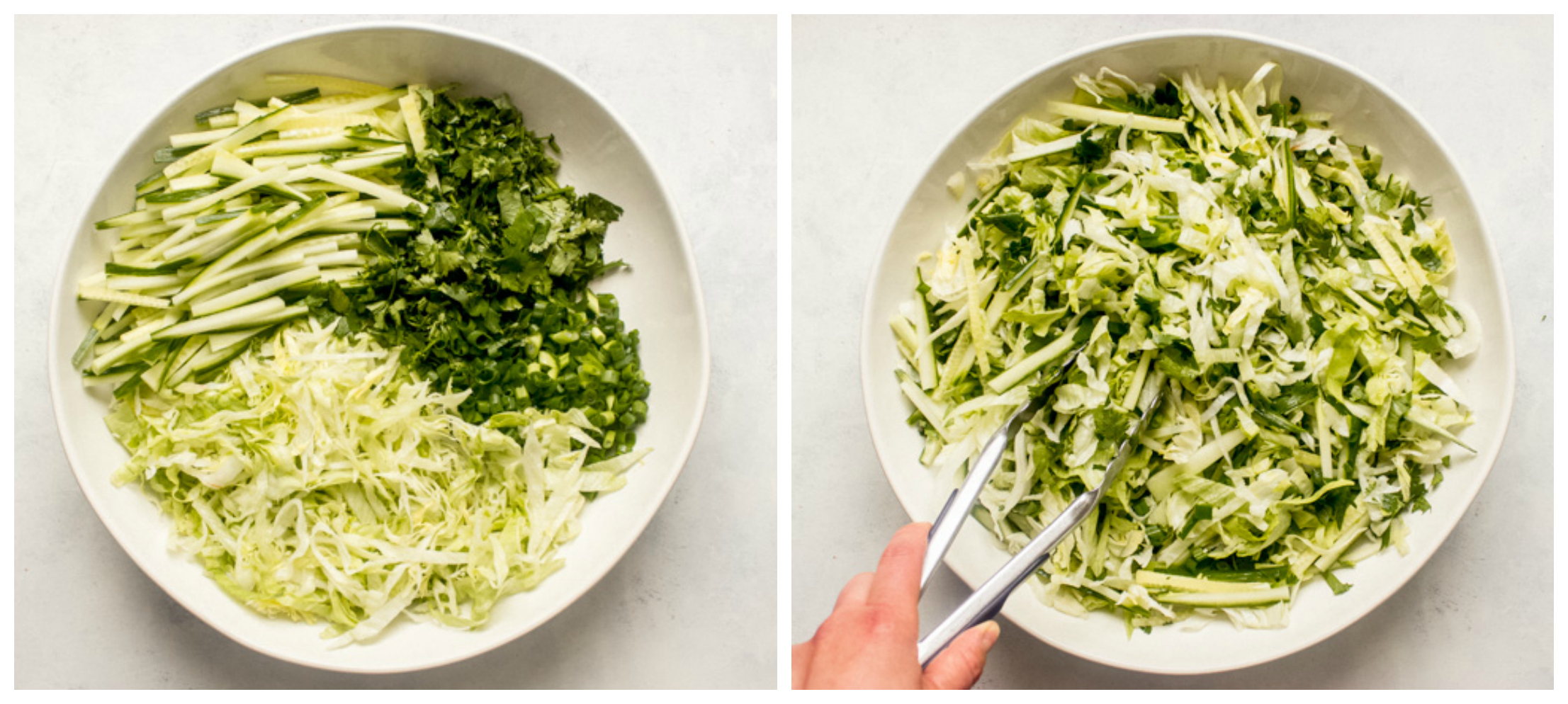 chopped iceberg lettuce in a bowl
