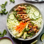 spring roll bowl with chicken recipe