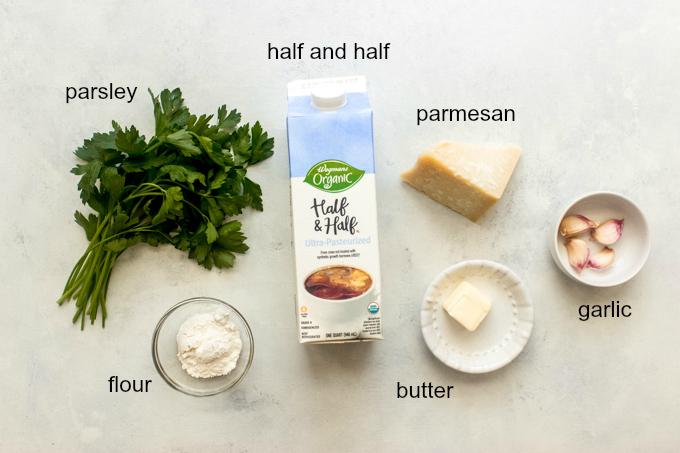 ingredients for garlic cream sauce recipe