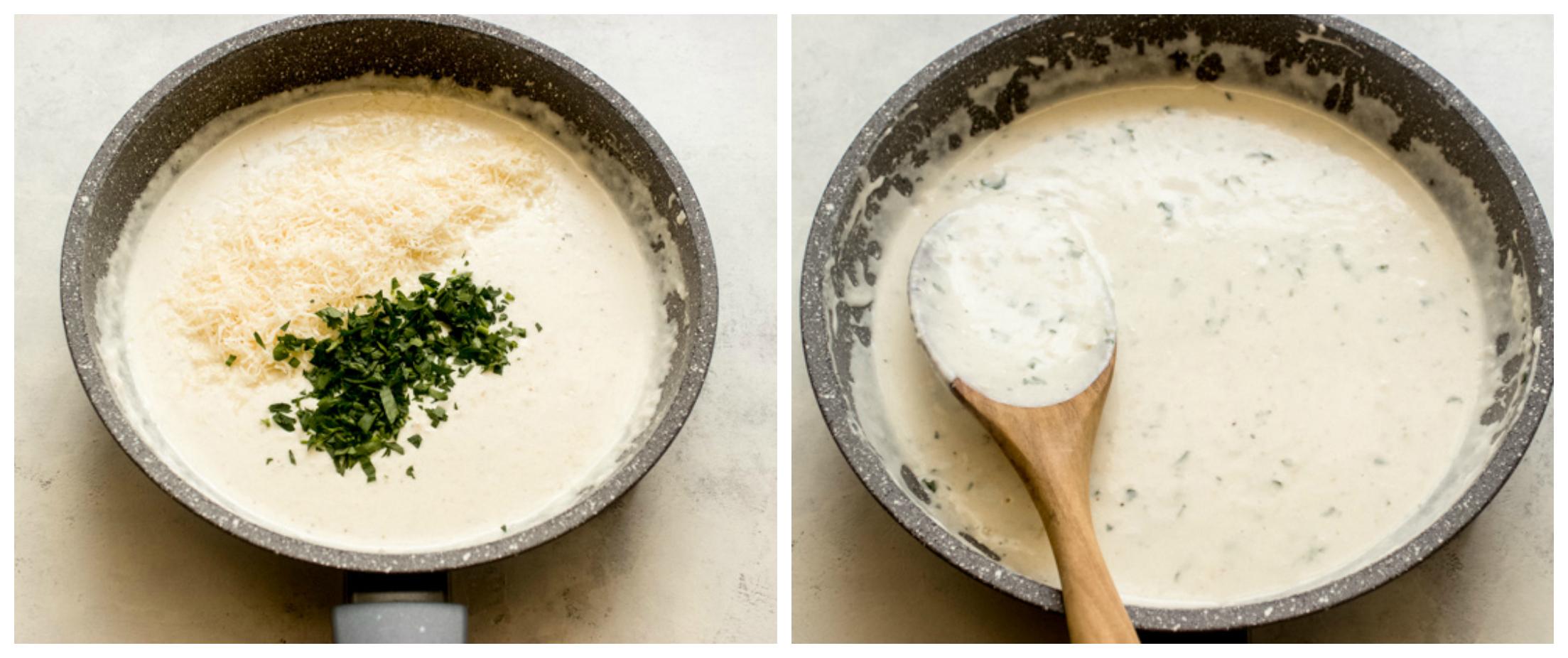garlic parmesan cream sauce