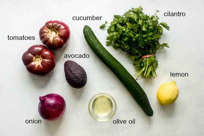 ingredients for heirloom salad