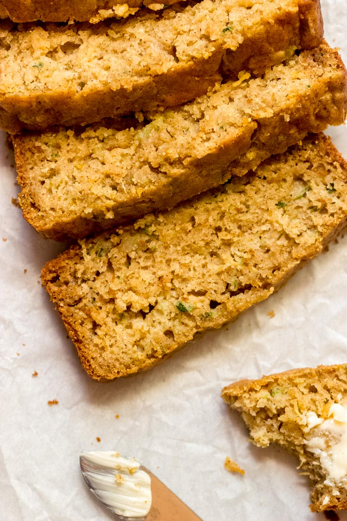 zucchini bread with pineapple and brown sugar