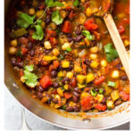 chili with black beans and quinoa