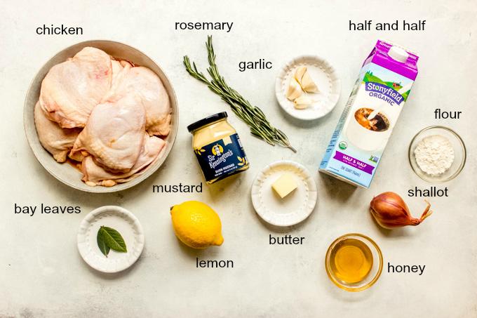 ingredients for honey mustard chicken recipe