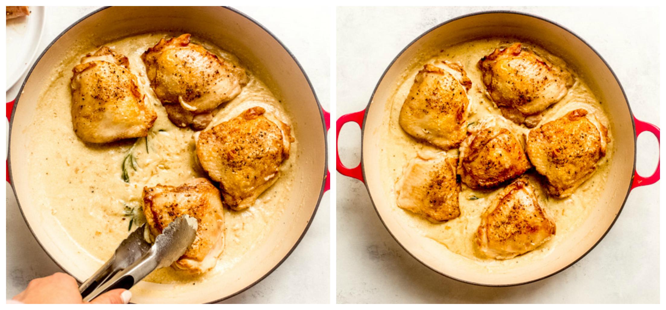 chicken thighs in creamy honey mustard sauce