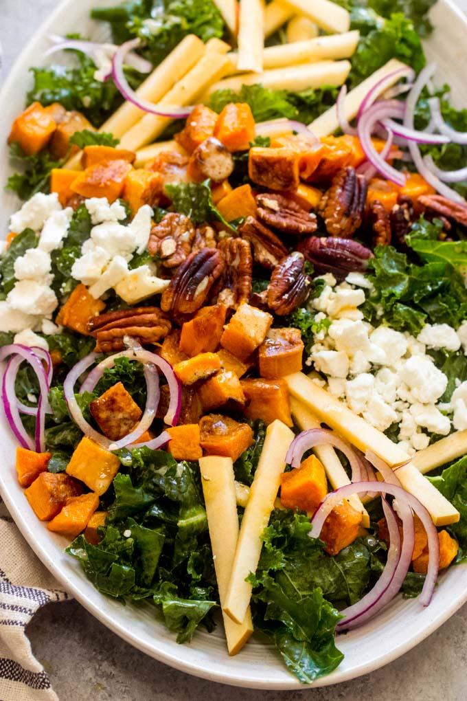 kale salad recipe with maple vinaigrette