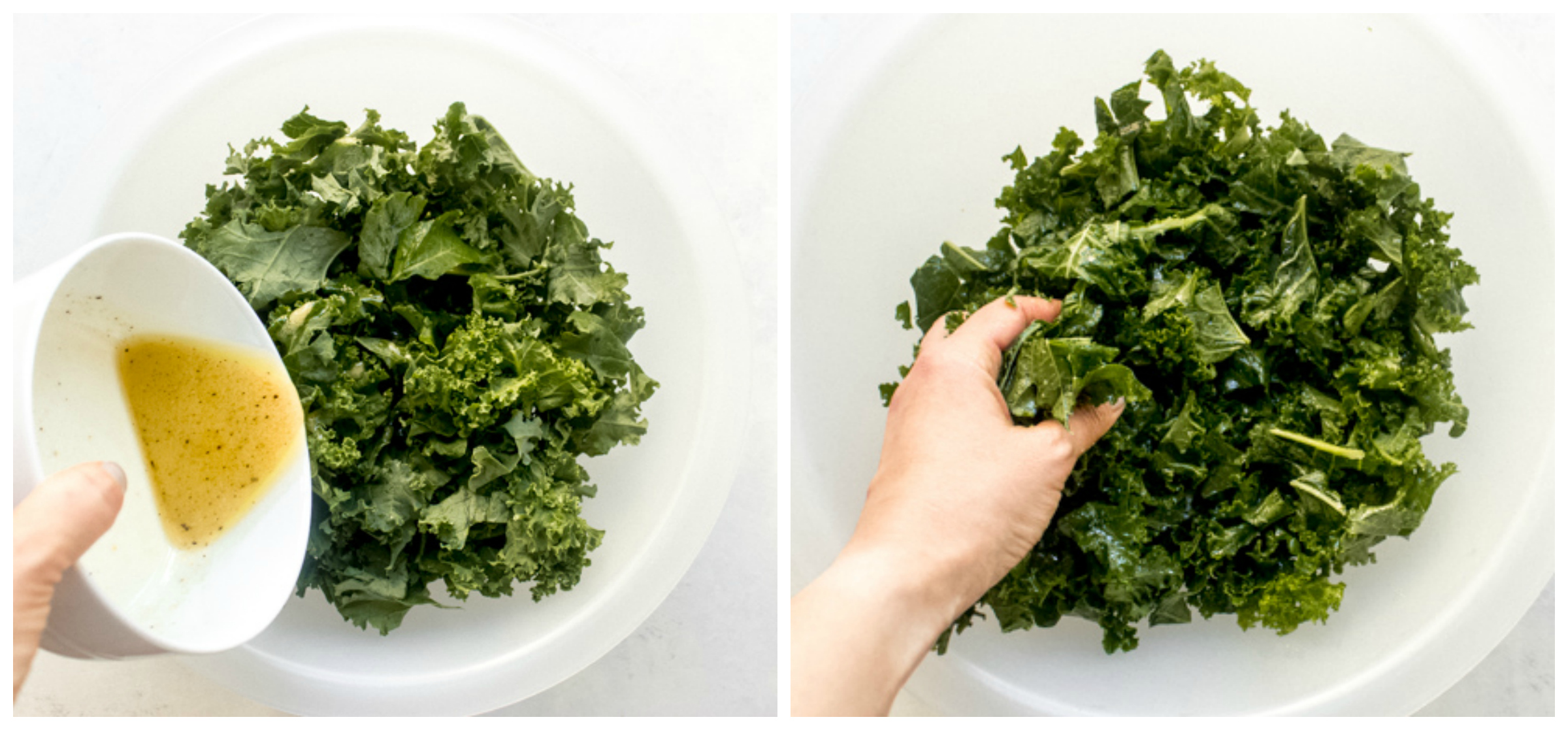 massaged kale in a bowl