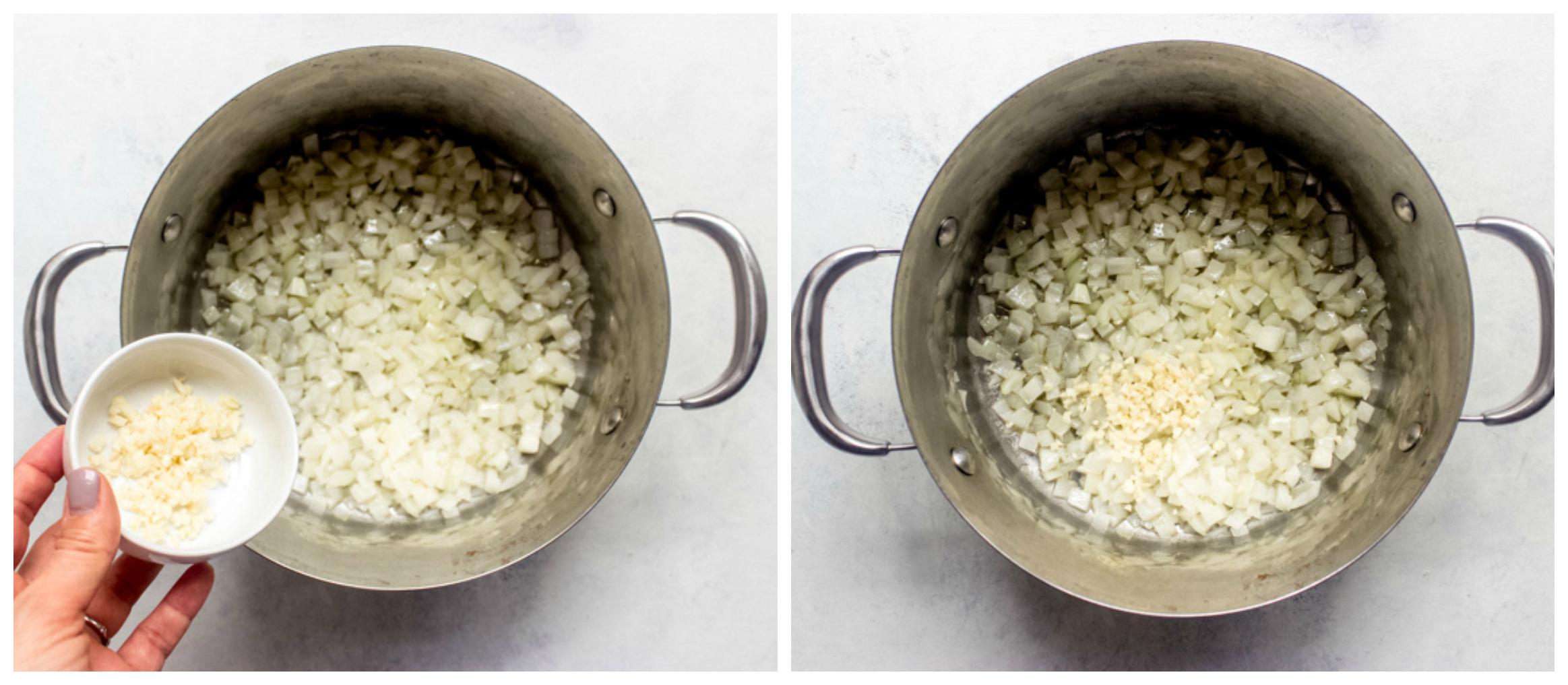 sauteed onion in dutch oven