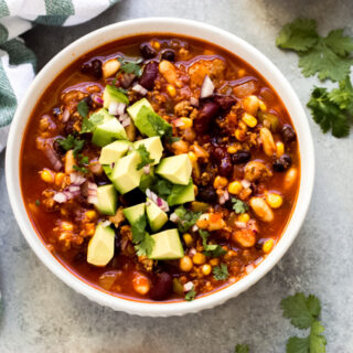 3 bean turkey chili