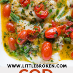 cod with tomato herb butter