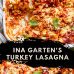 turkey lasagna in baking dish