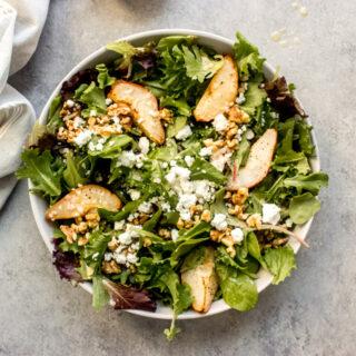 roasted pear salad recipe