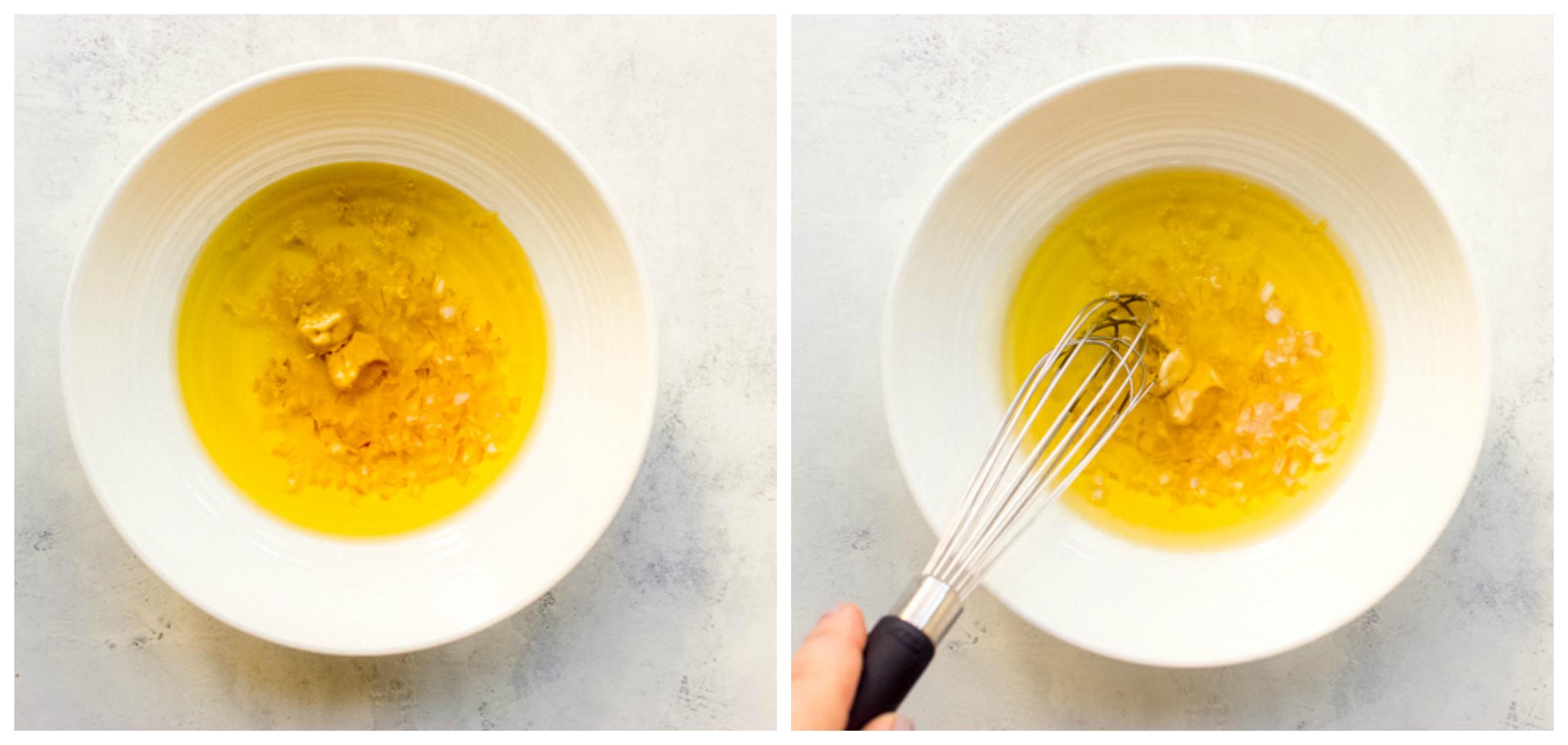 lemon vinaigrette in a bowl