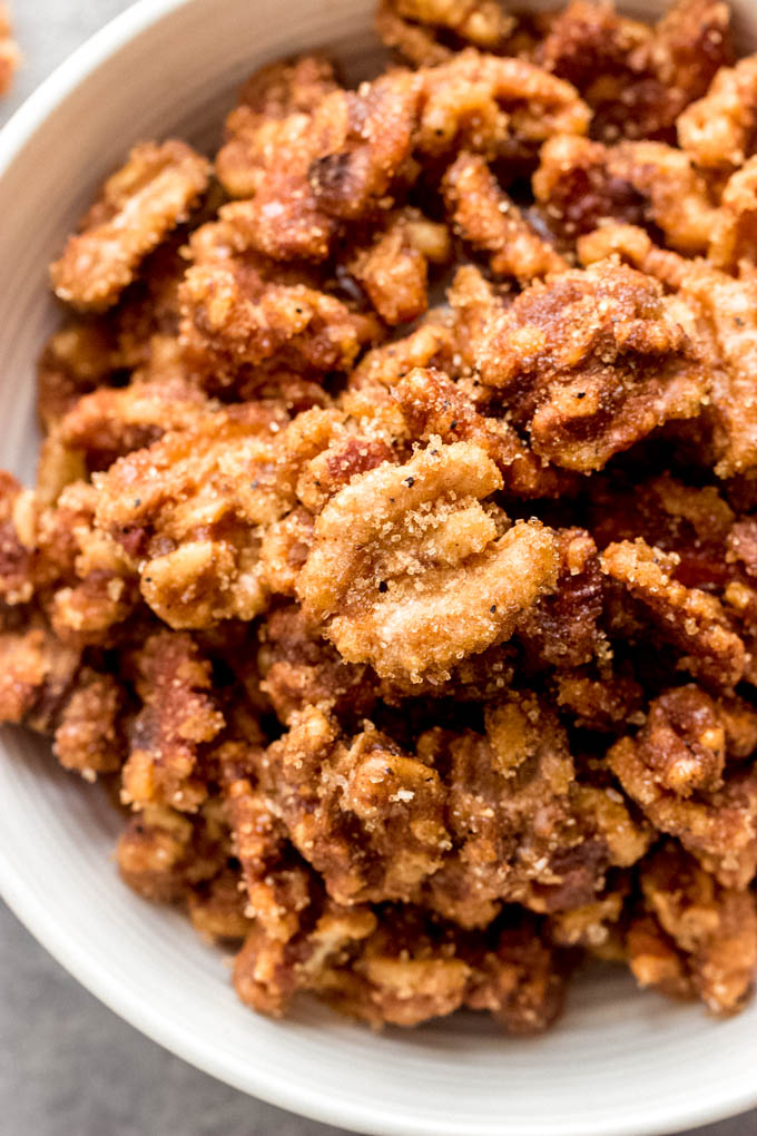 sweet and spicy walnuts recipe