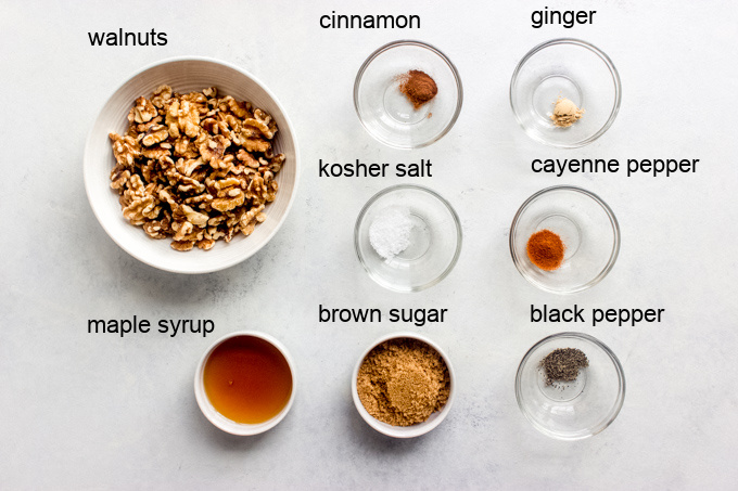 ingredients for spiced walnuts recipe