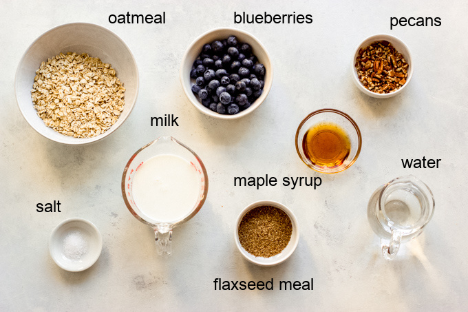 ingredients for flax oatmeal