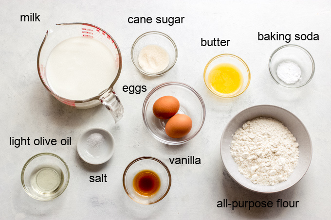 ingredients for blinis