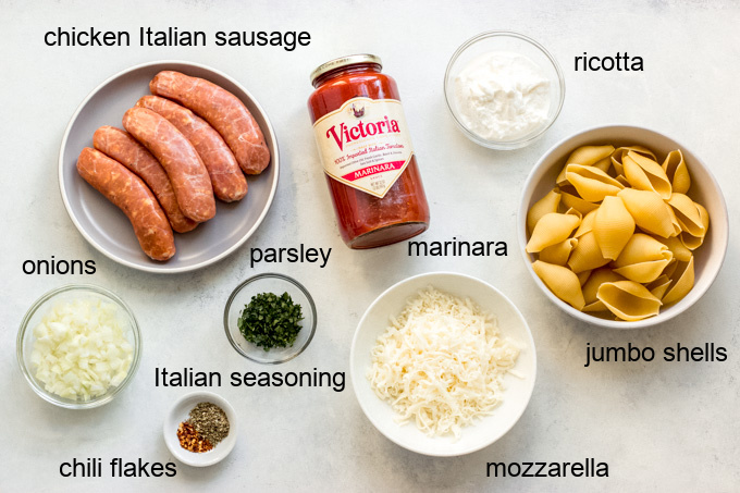 ingredients for easy stuffed shells