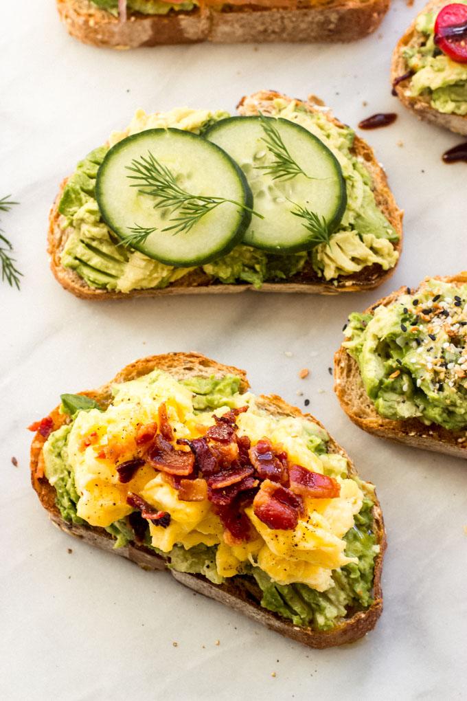 avocado toast toppings