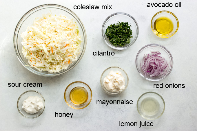 ingredients for easy coleslaw recipe