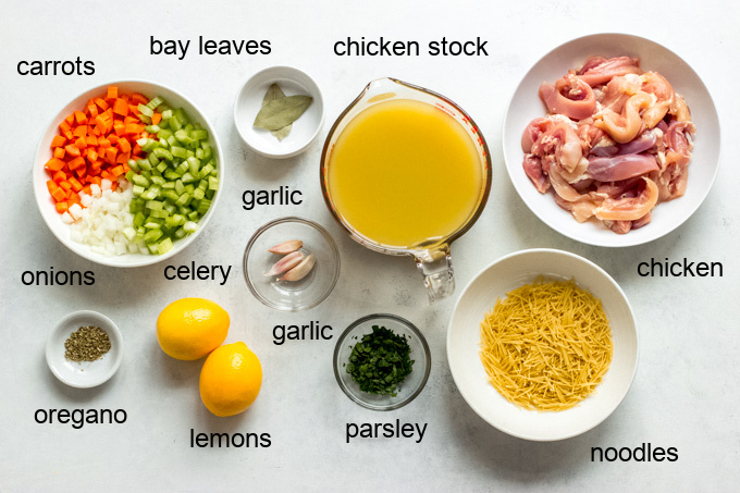 ingredients for lemon chicken soup recipe