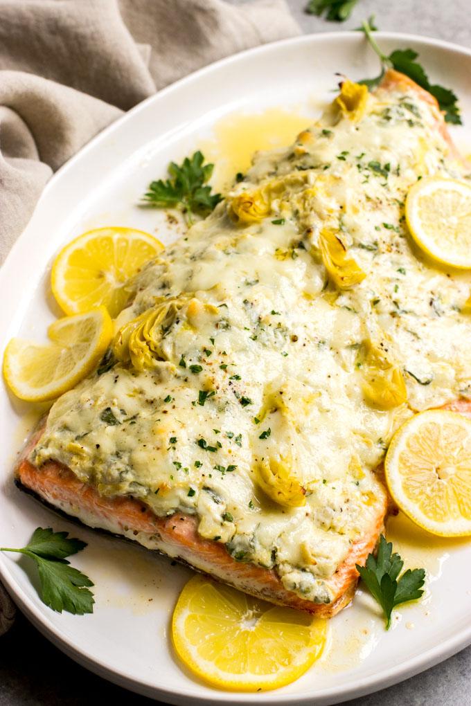 salmon artichoke