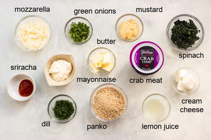 ingredients for crispy crab bites