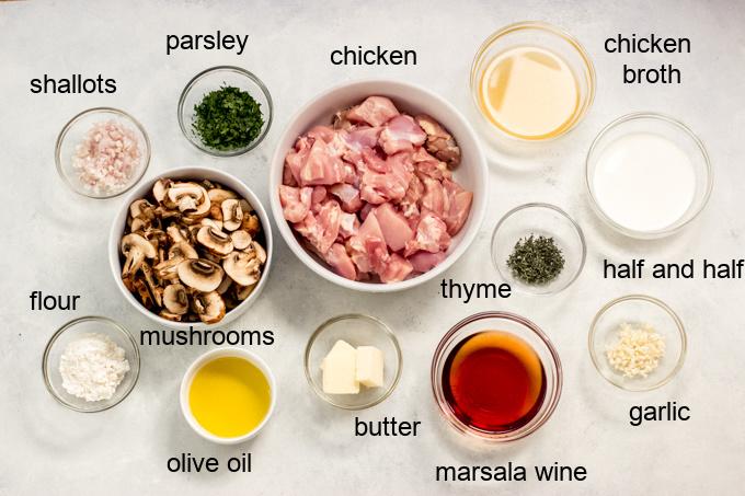 ingredients for chicken marsala