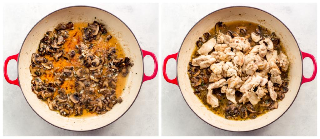 mushrooms in marsala sauce