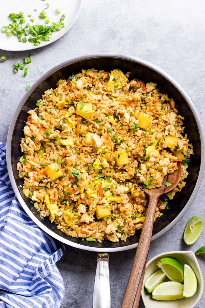 pineapple chicken fried rice recipe
