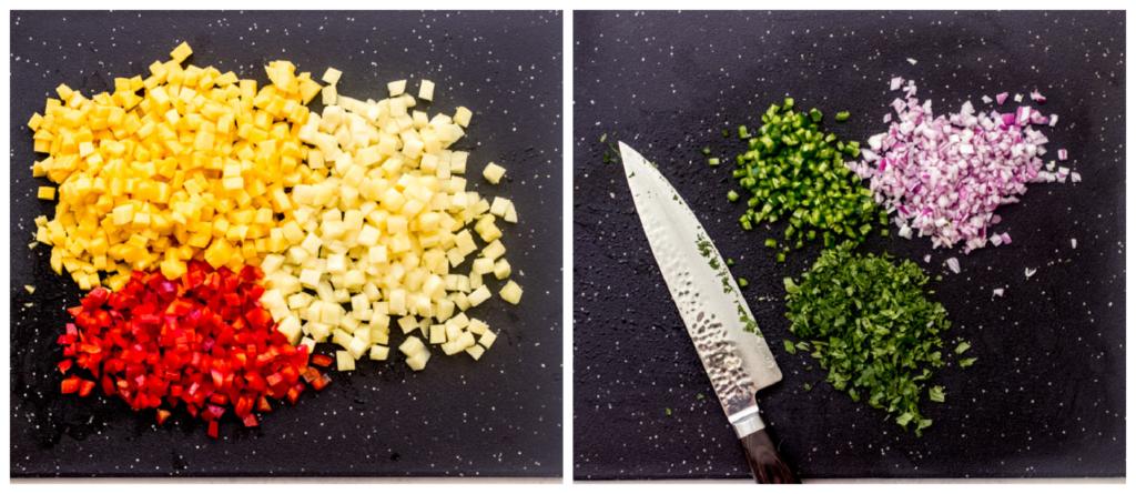 how to make pineapple mango salsa