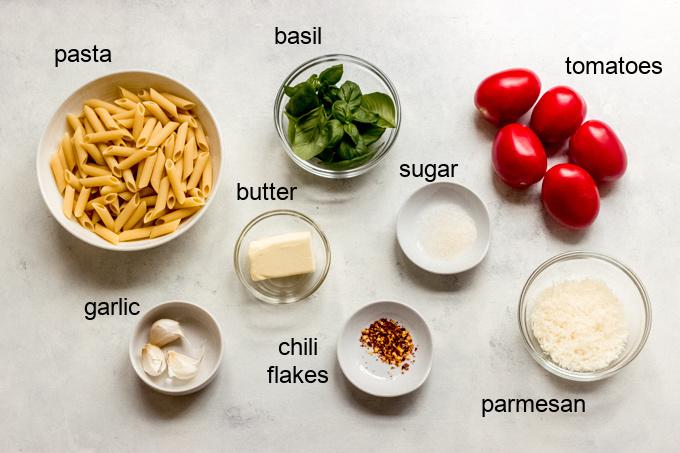 pasta margherita ingredients
