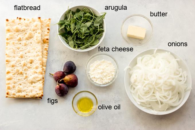 ingredients for fig flatbread recipe