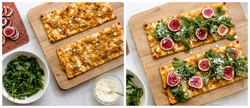 flatbread pizza with toppings