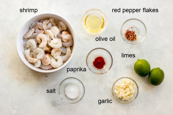 ingredients for grilled shrimp