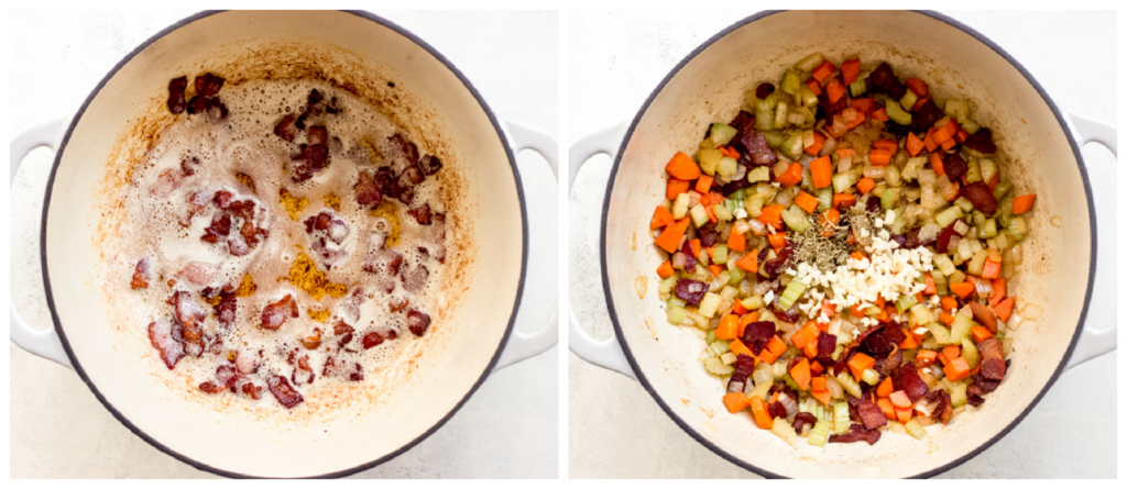 step by step on how to make potato corn chowder