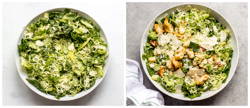 how to make caesar salad with brussels sprouts