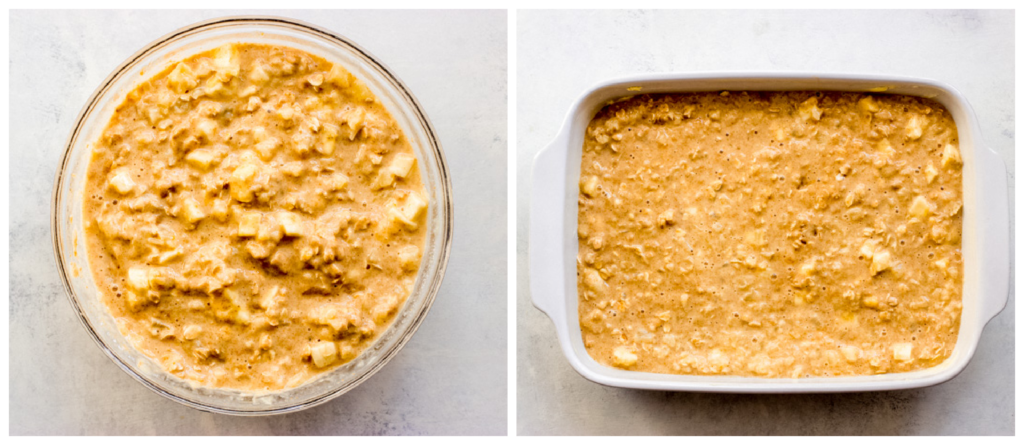 oatmeal bars in a pan